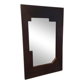 1920s Petite Bauhaus Era International Style Rosewood Wall Mirror