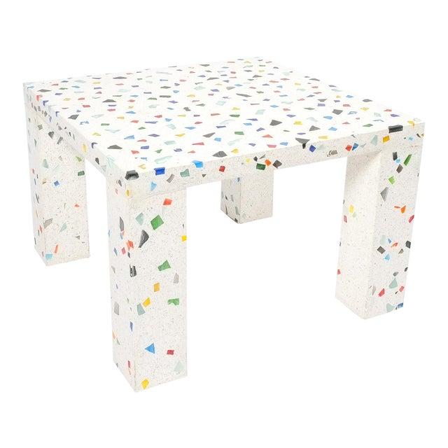 Shiro Kuramata Nara Terrazzo Side Table For Sale
