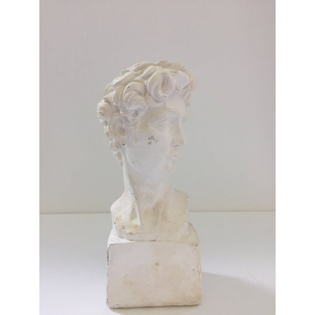 Plaster Bust of David Sculpture - Image 2 of 5