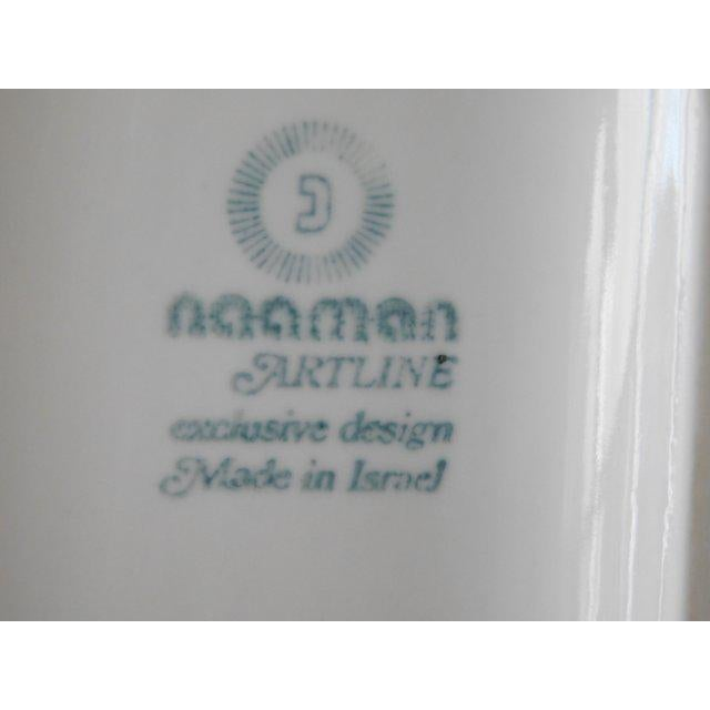 White White Modernist Bisque Porcelain Naaman Onion Vase For Sale - Image 8 of 11
