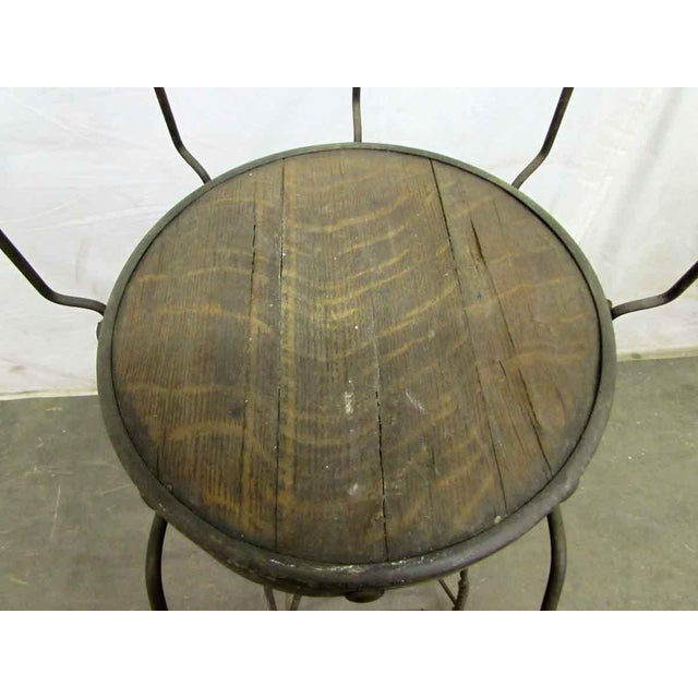 Brown Unique Traditonal Industrial Cast Iron High Stool For Sale - Image 8 of 10