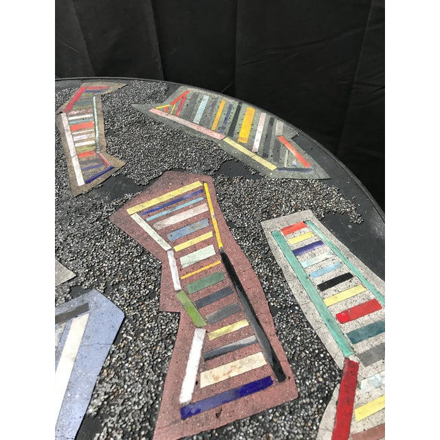 Handmade Steel and Concrete Table - Image 5 of 13