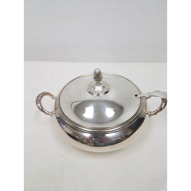 English Antique English Silver Plate Elkington Server For Sale - Image 3 of 11