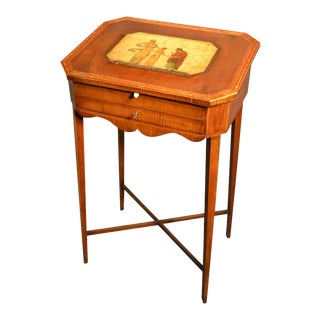 English Small Slant Lid Writing Desk, Late 18th Century For Sale