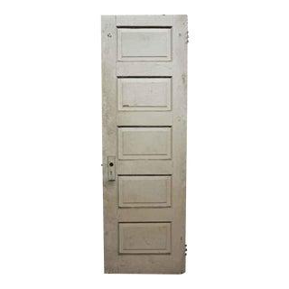 Antique Five Panel Wood Door