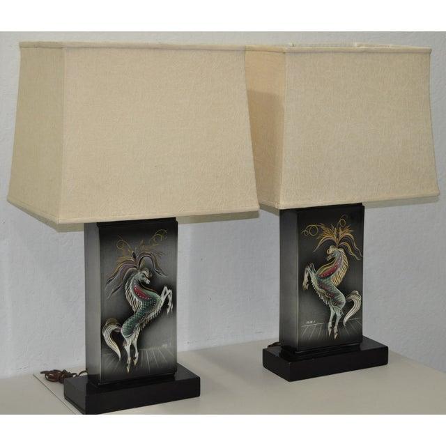 Sascha Brastoff Mid-Century Modern Lamps - Image 3 of 10