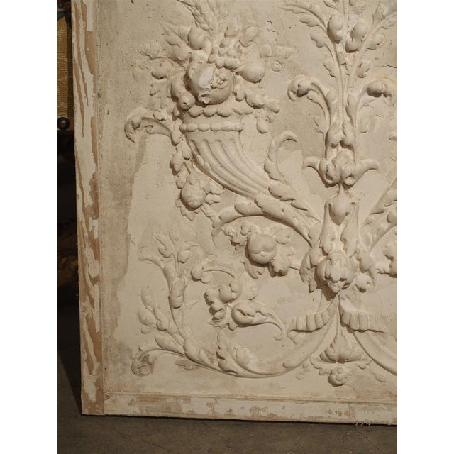 Plaster Plaster Bas Relief Cornucopia Panel From France For Sale - Image 7 of 9