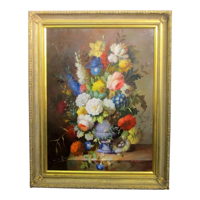 Dutch School Floral Still Life Painting For Sale