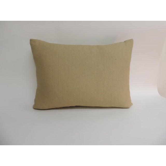 Asian Antique Colorful Silk Ikat Artisanal Textile Decorative Lumbar Pillow For Sale - Image 3 of 4