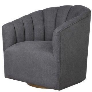 Barrel Back Swivel Chair For Sale