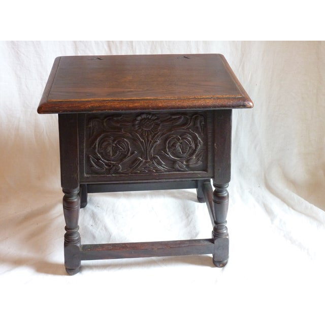 18th Century English Carved Oak Joint Stool - Image 3 of 6