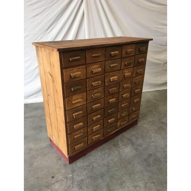 Handsome antique apothecary cabinet, c. 1910. This handsome cabinet is made  of solid - Antique Pine Apothecary Cabinet Chairish