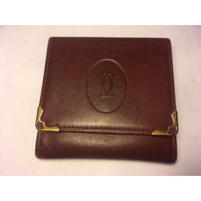 1970s Vintage Cartier Burgundy Change Purse For Sale - Image 5 of 5
