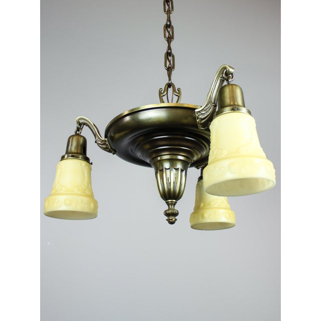 Antique Sheffield Light Fixture (3-Light) For Sale - Image 4 of 10