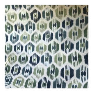 "GP&JBaker Caribana ""Peacock"" Cotton / Linen Color Fabric - 3 Yards For Sale"