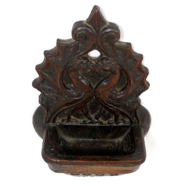 Late 19th Century Antique Griffin Wall Match Holder For Sale - Image 12 of 13