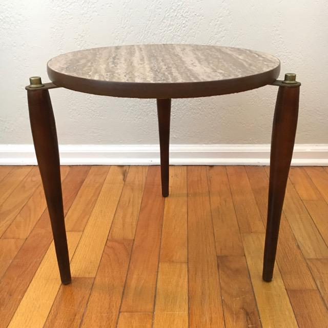 1960s Mid-Century Round Marble Top Stacking Tables - Set of 3 For Sale - Image 5 of 8