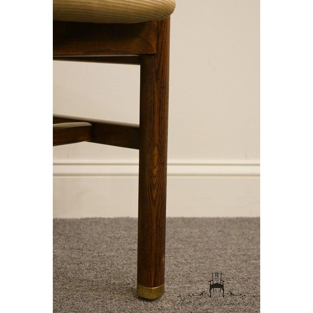 Textile Henredon Mid-Century Modern Solid Walnut Dining / Side Chair For Sale - Image 7 of 13