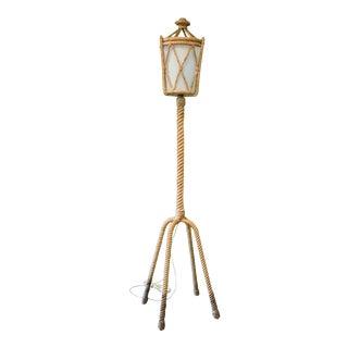Audoux Minet Rope Lantern Floor Lamp, France, 1960s For Sale