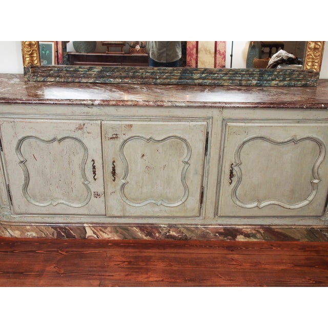 Louis XV Style Marble Top Buffet For Sale - Image 9 of 10