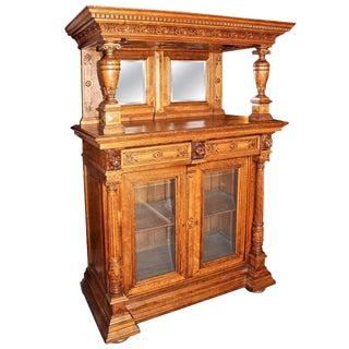 Antique Belgian Renaissance Bar Cabinet For Sale