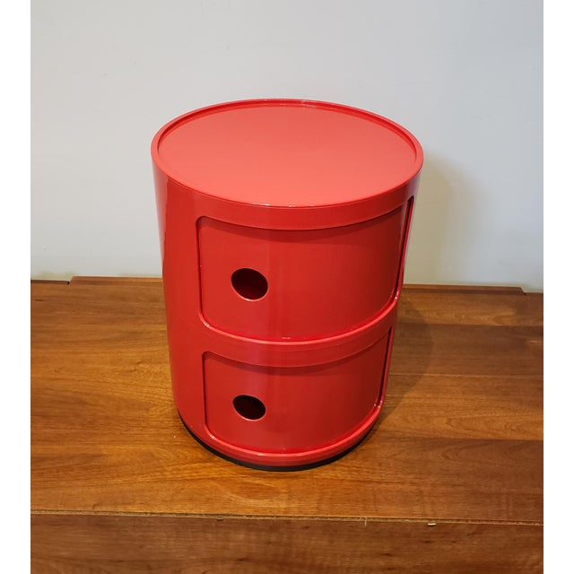 Mid-Century Modern Vintage Kartell Componibili Two-Tier Cabinet Side Table For Sale - Image 3 of 11