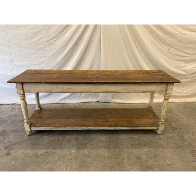 Rustic French Farm Console Table - 19th C For Sale - Image 12 of 12