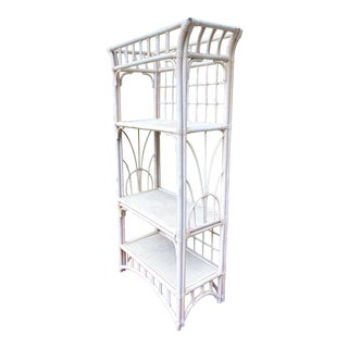 1970's Bentwood Bamboo Boho Chic Etagere For Sale