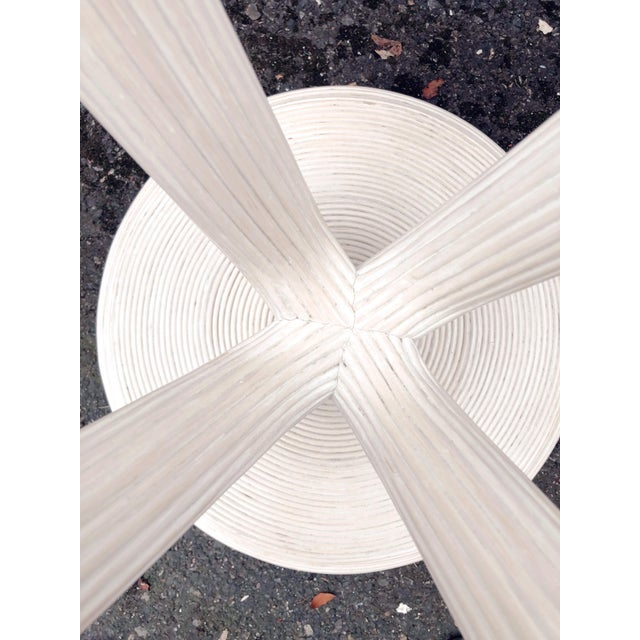 Pencil Reed Dining Table Base in the Style of Gabriella Crespi For Sale In Portland, OR - Image 6 of 7
