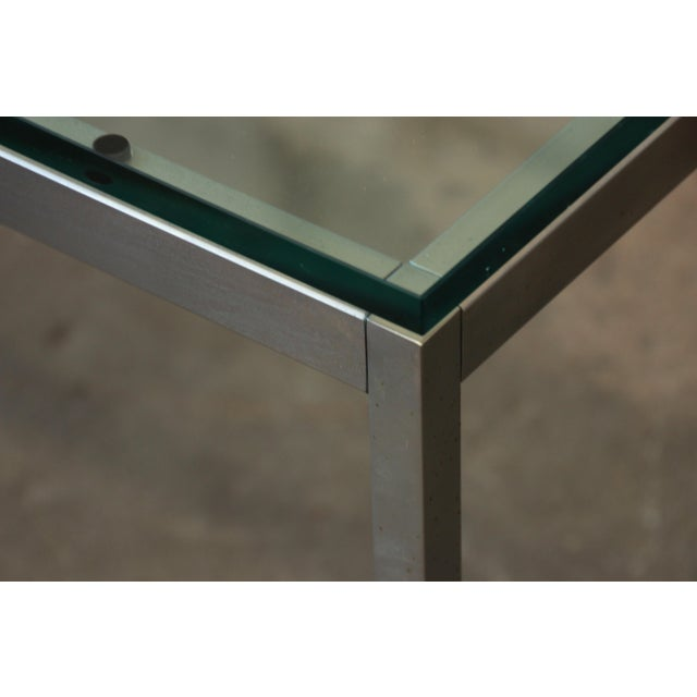 Florence Knoll Chrome & Glass Side Tables - a Pair - Image 6 of 7