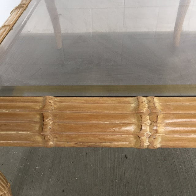 Late 20th Century Vintage Art Deco Waterfall Coffee Table For Sale - Image 5 of 11