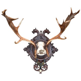 Fallow Deer of Frederick III of Prussia on Black Forest Plaque