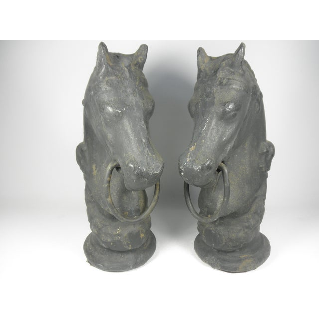 Cast Iron Horse Tethers - A Pair - Image 2 of 6