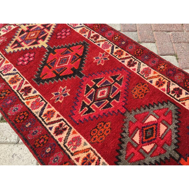 Islamic Vintage Hand Knotted Turkish Runner For Sale - Image 3 of 9