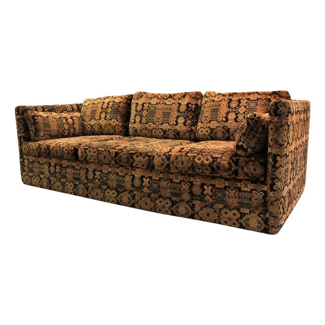 Mid Century Milo Baughman Forecast Furniture Sofa - Image 1 of 11