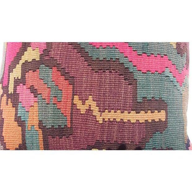Turkish Kilim Floral Pillow - Image 4 of 4