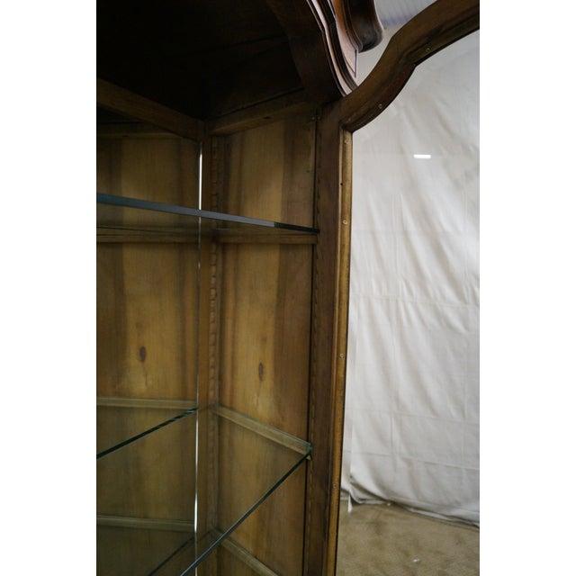 Antique 19th Century Louis XV Walnut Curio Cabinet - Image 8 of 10