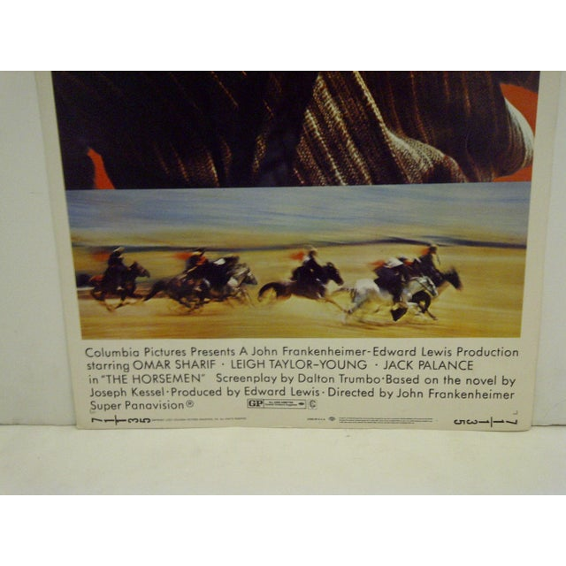 """1970s 1971 Vintage Movie Poster of """"The Horsemen"""" For Sale - Image 5 of 5"""