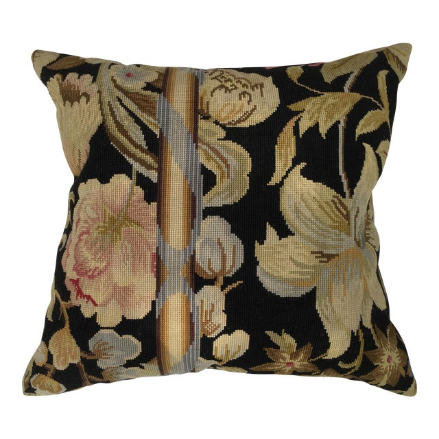 French Needlepoint Aubusson Pillow For Sale