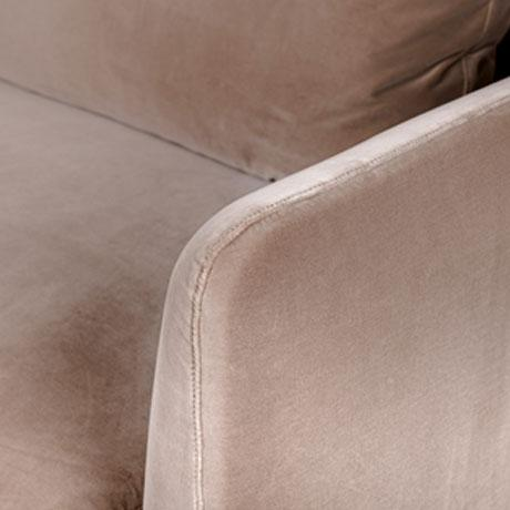 2020s Cafe Colored Velvet Straight Sofa For Sale - Image 5 of 7