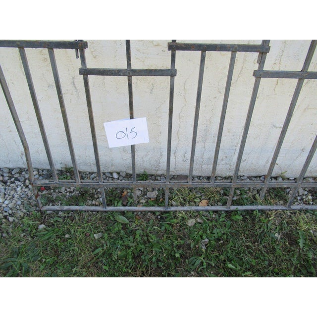 Antique Victorian Iron Gate Window Garden Fence Architectural Salvage Door #015 For Sale - Image 4 of 6
