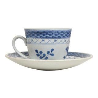 Royal Copenhagen Coffee Tea Cup & Saucer Set for (12) Blue Danish Modern 1960s For Sale