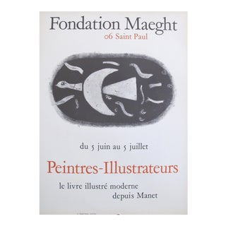 1960 French Exhibition Poster, Galerie Maeght