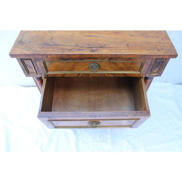 Metal 19th Century Italian Fruitwood Nightstand For Sale - Image 7 of 12