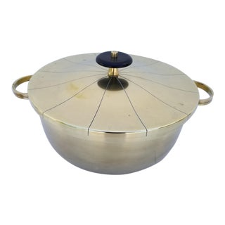 Tommi Parzinger Lacquered Brass Chafing Dish for Dorlyn Silversmith For Sale