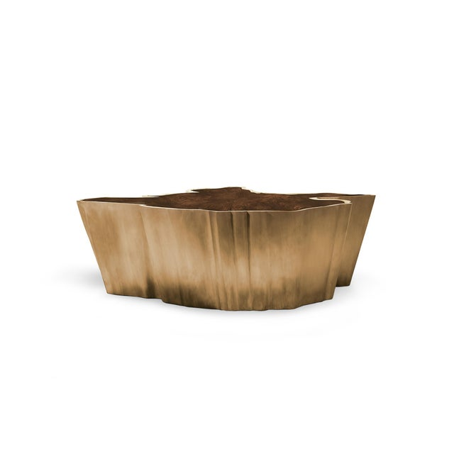 Brass Sequoia Center Table From Covet Paris For Sale - Image 7 of 8
