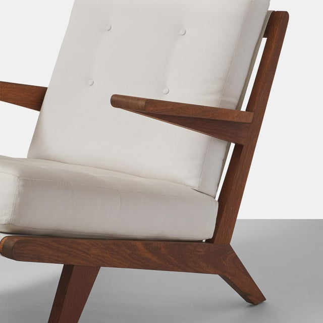 Brown AN OPEN ARMCHAIR EXCLUSIVELY FOR ALMOND & CO. For Sale - Image 8 of 11