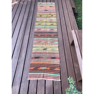 "1960's Vintage Turkish Striped Kilim Runner-2'2'x9'4"" Preview"