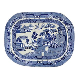 1820s English Willow Meat Platter For Sale
