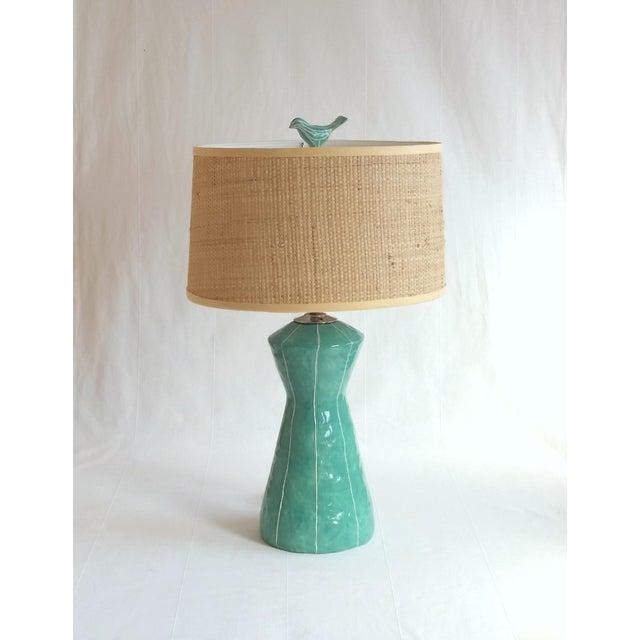 2020s Jade Green Ceramic Bird Finial For Sale - Image 5 of 6